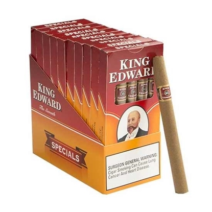 50 cigars king edward tip vanilla 10 packs of 5 cigars cigars tax free on sale