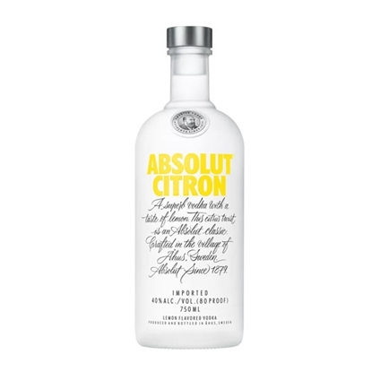 Absolut Citron vodka tax free on sale