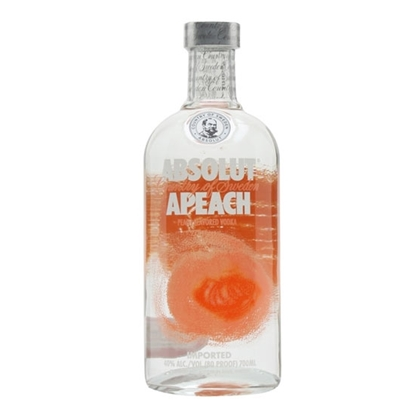 Absolut Peach vodka tax free on sale