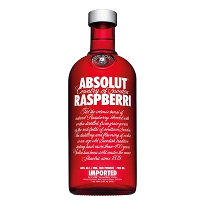 Absolut Raspberry vodka tax free on sale