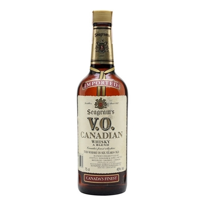 Seagram's V O 6 Year Old Canadian whisky tax free on sale