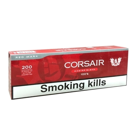 Cheap Corsair Red 100's Cigarettes Tax Free on Sale - Duty Free Pro