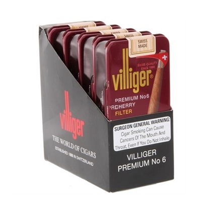 villiger premium no 6 cherry cigars tax free on sale