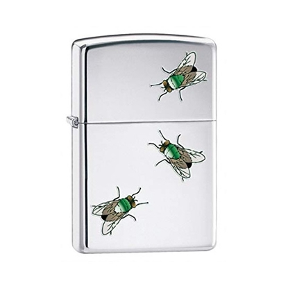 zippo flies lighter high polished chrome tax free on sale