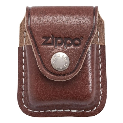 zippo leather pouch brown tax free on sale